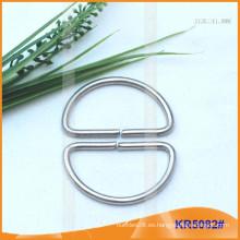 Tamaño interior 41mm Metal Hebillas, Regulador de metal, Metal D-Ring KR5082
