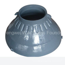 OEM Mn18cr2 Casting Cone Crusher Spare Parts Mantle for Metso