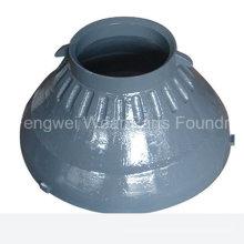 OEM Mn18cr2 Casting Cone triturador peças de reposição manto para Metso