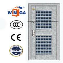 Puerta de acero galvanizado de entrada de acero de seguridad de acero inoxidable (W-GH-27)