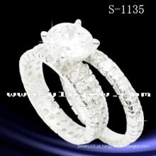 Anel de combinação de zircônia branca prateada 925 (S-1135. JPG)