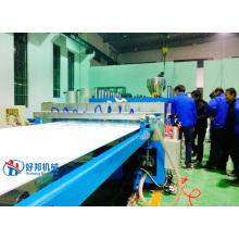 Wood plastic composite plate production line