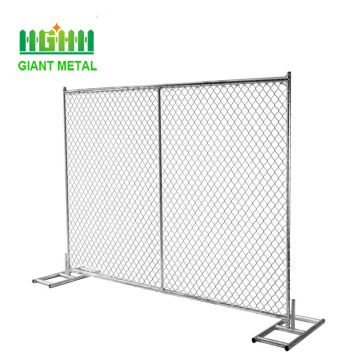 Hot Dipped Galvanized Removable Chain Link Fence