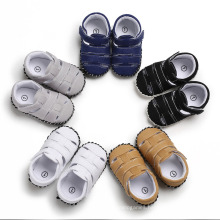 Superstarer 2020 Summer Hot Sale Non Slip Baby Boy Sandals 0-1 Year Old First Walkers Baby Shoes