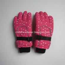 Children Full Printing Nylon Ski Gloves