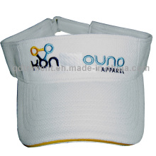 Poliéster de piña de malla de sándwich de verano dom visera sombrero (TMV00553-1)