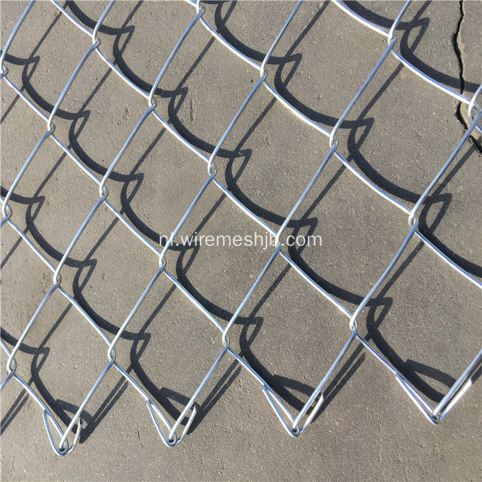 Chain Link Fence Voor Road Green Belt Protection