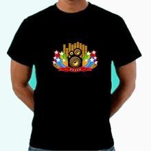 Chest lights up black tshirt