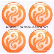 Étiquettes époxyde de dôme d'unité centrale de logo de résine époxyde, insignes résistants aux UV de résine, autocollant époxyde de résine de dôme