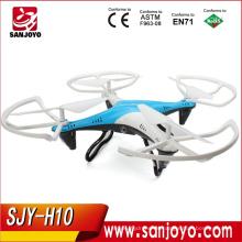 Los Quadcopters más nuevos de Toy Rc con la cámara apoyan en tiempo real 4CH 2.4GHz 6-Axis Gyro RTF 3D flip estable vuelo Drone SJY-JJRC-H10