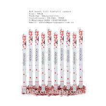 Tirador del confeti de la boda del pétalo de Rose blanca, Poppers del partido suministrados por China