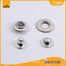 Presione el botón de presión del metal de cobre amarillo con diseño modificado para requisitos particulares BM10706