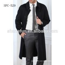 Männer im europäischen Stil Winter 100% Cashmere Stoff Mantel Preis