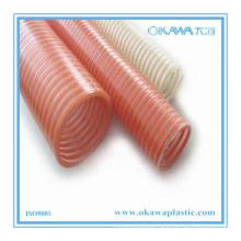 Flexível espiral reforçada PVC mangueira de entrega com qualquer cor