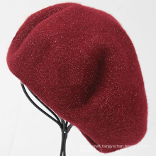 Womens Ladies Wool Warm Angora Winter Lurex Metallic Yarn Autumn Spring Cap Hat Beret (HW807)