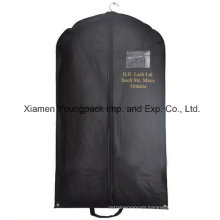 Custom Printed Black Non-Woven PP Travel Suit Bag