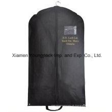 Personalizado impresso preto não-tecidos PP viagem terno saco