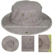 Tissu en coton teintée au pigment lavé Chapeau de pêche à la pêche (TMBH0001)