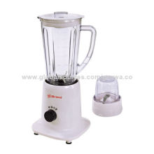 Food Blender with Grinder, 300W Copper Motor, 1.25L Plastic Jar, Two-speed, Stainless Steel Blade