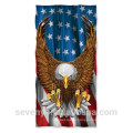 100% cotton extra soft American flag beach towels--China factory