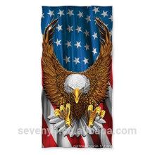 100% coton serviettes de plage drapeau américain extra doux - Chine usine
