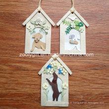 Décoration personnalisée Maison de chien Forme DIY Paper Craft