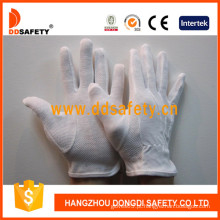 Ddsafety 100% lixívia algodão luvas de segurança com pontos de PVC (dch112)