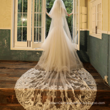 2020 Fashion High quality plain long wedding veil  lace