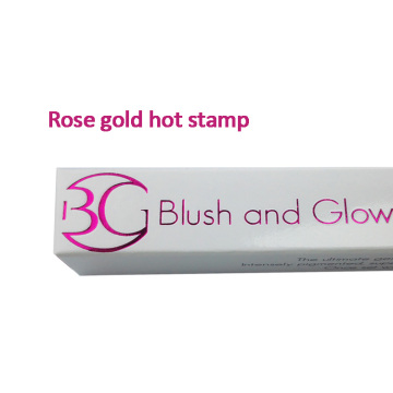 Laminación Rose Hot Stamping Barato Cosmetic Lipstick Box
