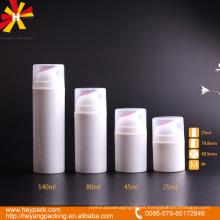 Botella plástica 30ml 40ml 80ml botella airless de 140ml