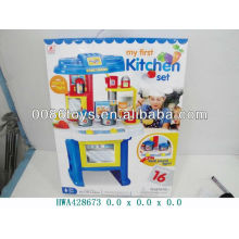 Battery operated blue color kitchen set,kitchen toys