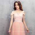2017 couleur rose une épaule robe de soirée A-ligne longueur prix robe de mariée