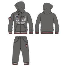 Moda deportiva de otoño / invierno con chaqueta y pantalón en la ropa (SQD-104)