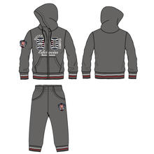 Autumn/ Winter Fashion Sportwear with Jacket and Pant in Clothes (SQD-104)