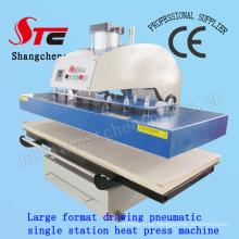 Máquina de transferência de calor de grande formato T-Shirt Máquina de transferência de calor de grande formato 60 * 130cm Máquina de transferência de calor de única estação pneumática Stc-Qd08