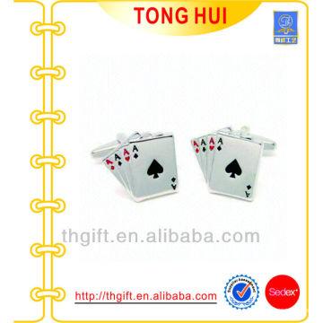 2014 Hot Sale Poker Metal Cuff Link