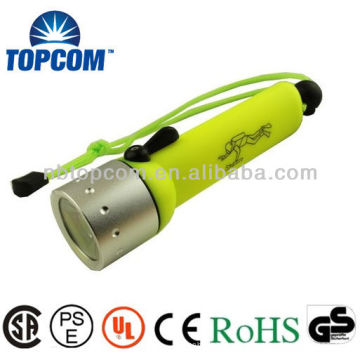 Linterna de buceo profesional Cabeza de acero de alta densidad