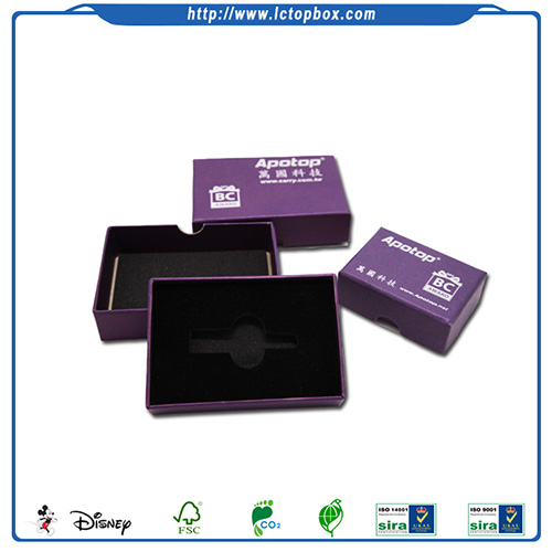 Small cardboard packaging box with lid