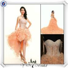 JJ3033 новых Сампл сексуальная короткий передний долго назад свадебное платье съемный юбка