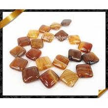 Perles en pierre d'agate naturel, perles en vrac, pierres précieuses de mode (AG004)