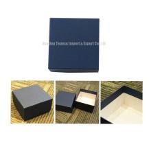 MDF Cardboard Gift Packaging Boîte à bijoux bleue