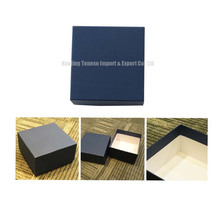 MDF Cardboard Gift Packaging Blue Jewelry Box
