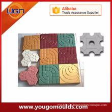 Différents modèles de moules en béton en plastique pour pavés
