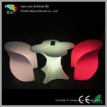 Table plastique en plastique imperméable à LED