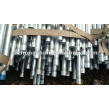 Tuyau en acier galvanisé à chaud chaud BS1387 / ASTM A53 GrB / Q235 / SS400