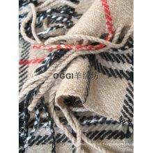 Bufanda de lana comprobada / ciempiés