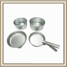 Conjunto de panelas de acampamento, utensílios de cozinha de alumínio ao ar livre