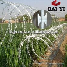 Aço inoxidável Concertina Razor Barbed Wire