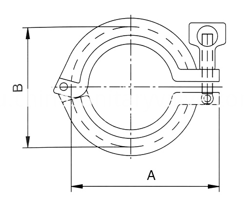 sanitary single pin clamp1