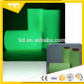 high quality luminescent film for safety guide, green grow tape in the dark